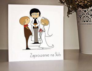 zabawne zaproszenie ślubne