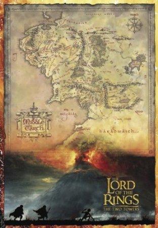 mapa srodziemia plakat