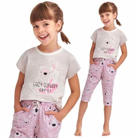 Piżama dla mamy i córki o ciekawym wzorze